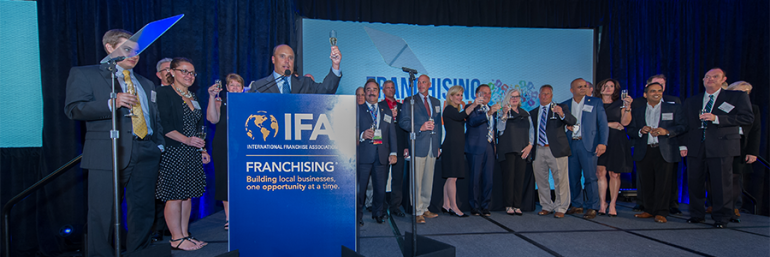 Photo taken from the 2016 Franchising Gives Back celebration and awards dinner